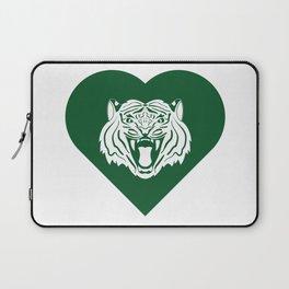 Tiger Mascot Cares Green Laptop Sleeve