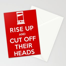 Rise Up and Cut Off Their Heads Stationery Cards