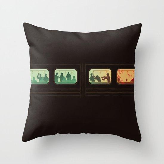 Ground Zero - Zombie Subway Throw Pillow