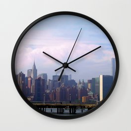 Chrysler Building Across the Way, New York City Wall Clock