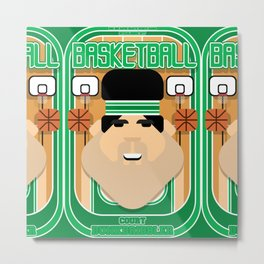 Basketball Green - Court Dunkdribbler - Victor version Metal Print