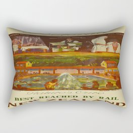 Vintage poster - Rotorua Rectangular Pillow