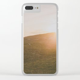 Winter sunset Clear iPhone Case