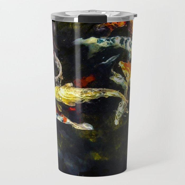 Colorful Koi Travel Mug