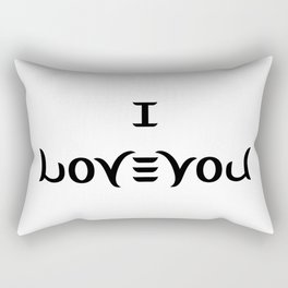 I LOVE YOU ambigram Rectangular Pillow