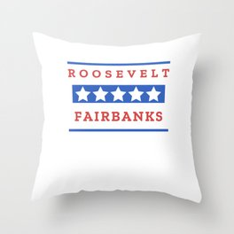 Theodore Roosevelt Charles Fairbanks President Gift for History Buffs Throw Pillow