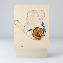 Egon Schiele - Nude With Blue Stockings Mini Art Print