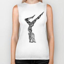 Yoga Girl - Handstand Moon and Stars Biker Tank
