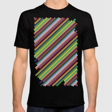 Up and Down MEDIUM Mens Fitted Tee Black