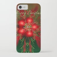 merry christmas iPhone & iPod Cases featuring Merry Christmas by Roger Wedegis