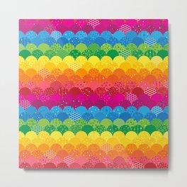 Waves of Rainbows Metal Print