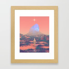 Lost Astronaut Series #02 - Giant Crystal Framed Art Print