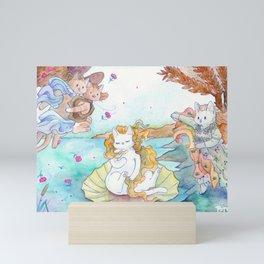 Birth of Puss Mini Art Print