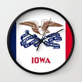 Iowa State Flag Wall Clock