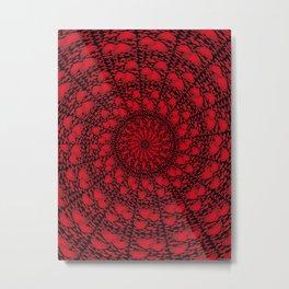 Love Hearts Mandala Metal Print