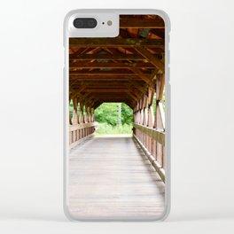 Covered Bridge 1 Clear iPhone Case