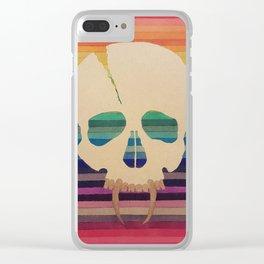 Rainbow Skull Clear iPhone Case