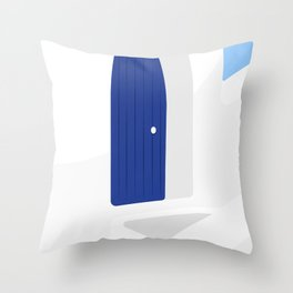 Santorini #01 Throw Pillow
