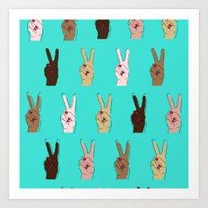 peace, out. Art Print