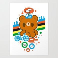 CycleBear - champignon du monde Art Print