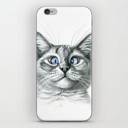 Cross Eyed cat G122 iPhone Skin