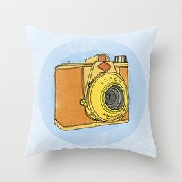 So Analog - Agfa Clack Retro Vintage Camera Throw Pillow