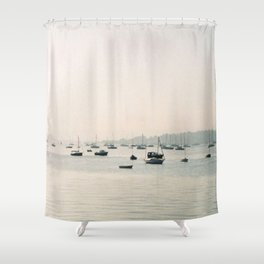 boats against the current Shower Curtain