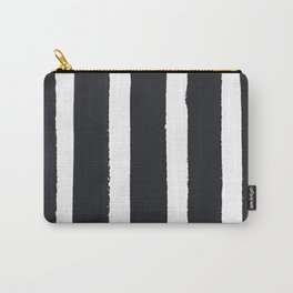 Gray Watercolor Stripes Carry-All Pouch