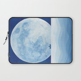 Full moon & paper boat Laptop Sleeve