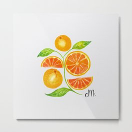 Juicy Grapefruits Metal Print