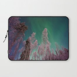Northern Lights Pine Trees (Color) Laptop Sleeve