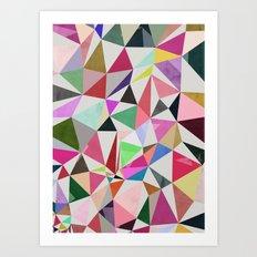 colour + pattern 18 Art Print