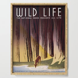 Wild Life - National Parks Preserve All Life Serving Tray