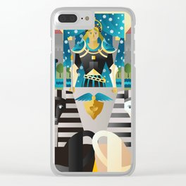 the chariot tarot card Clear iPhone Case