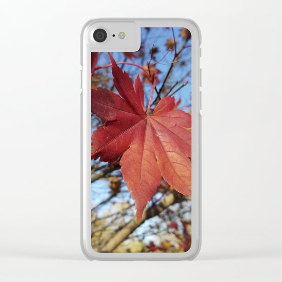 Maple leaf center stage Clear iPhone Case
