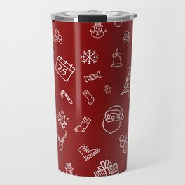 Xmas Red Travel Mug
