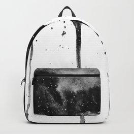 Black Watercolor Galaxy Splash Backpack