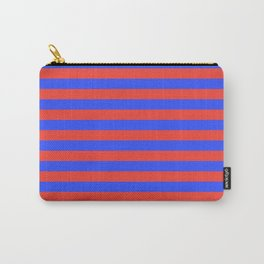 Even Horizontal Stripes, Blue and Red, M Carry-All Pouch