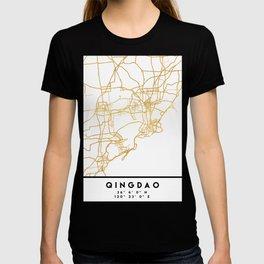 QINGDAO CHINA CITY STREET MAP ART T-shirt