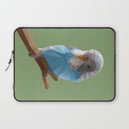 Budgerigar Bird Polygon Art Laptop Sleeve