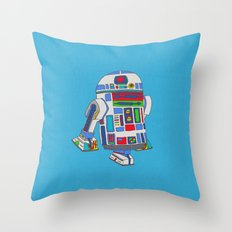 cool boys like epic droids Throw Pillow