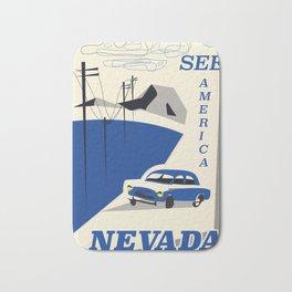 Nevada vintage travel poster Bath Mat