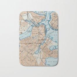 Vintage Map of Boston MA (1906) Bath Mat