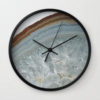 agate Wall Clocks featuring Agate by CAROL HU