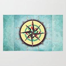 Striped Compass Rose Rug
