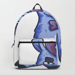 funny purple Lama cylinder Animal Gift Backpack