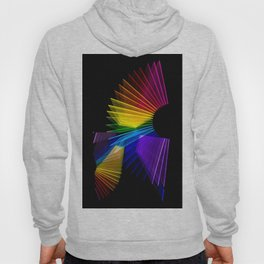 Lights of colorful lamps with long exposure in black background Hoody