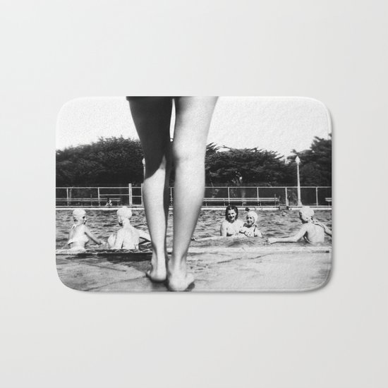 A Day At The Pool Bath Mat