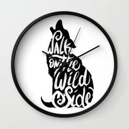 Typo Wolf Wall Clock
