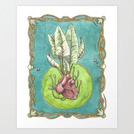 Heart Beet Art Print